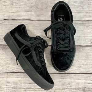 Vans Old Skool Black Velvet Sneakers